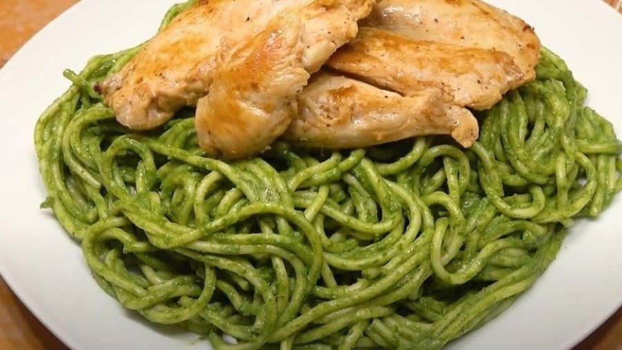 Receta de Tallarines verdes estilo peruano